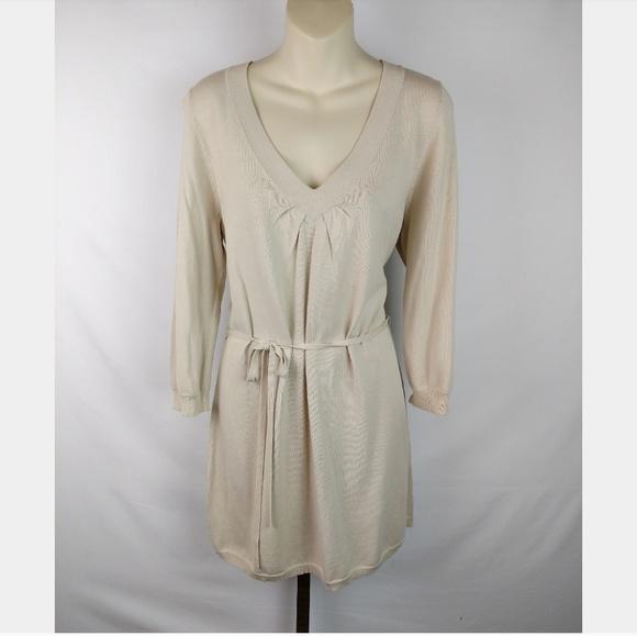 814b63a57fa Ann Taylor Dresses   Skirts - Ann Taylor Tie Waist V-Neck Sweater Dress